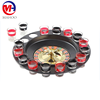 "High quality Russian 32"" roulette wheel drinking game with 12 shot glass"
