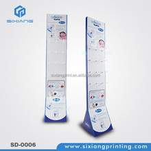 Solar Powered LED Advertising Cardboard Paper Display With Hook Stand