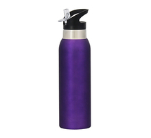 stainless steel insulated water bottle holder with stra