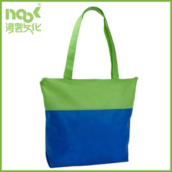 polyester bag custom material with zipper green blue