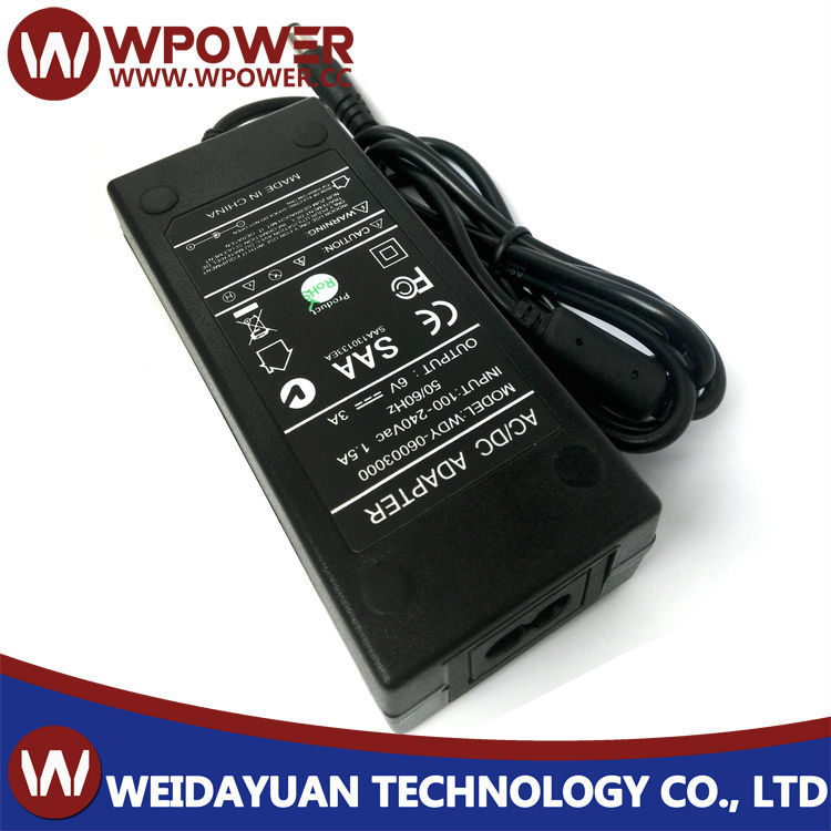 6V3A 18W AC To DC Switching Mode Power Supply Adapter