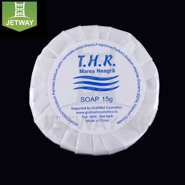 Well produced disposable classic white hotel soap and shampoo