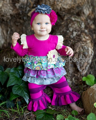 wholesale cute Toddler boutique outfit baby set clothing boutique remakes