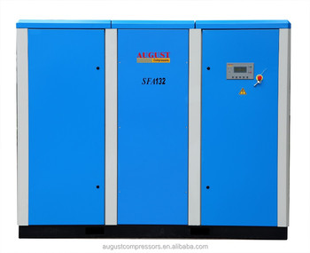 SFA132B 132KW/180HP 10 bar AUGUST stationary air cooled screw air compressor price list compressor