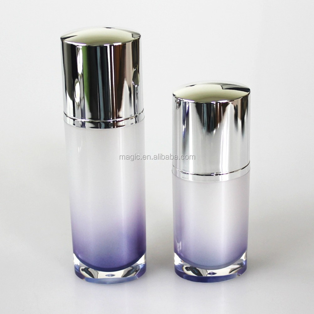 30ml 50ml Oval Shape Acrylic Plastic Cosmetic Bottles With Lotion Pump