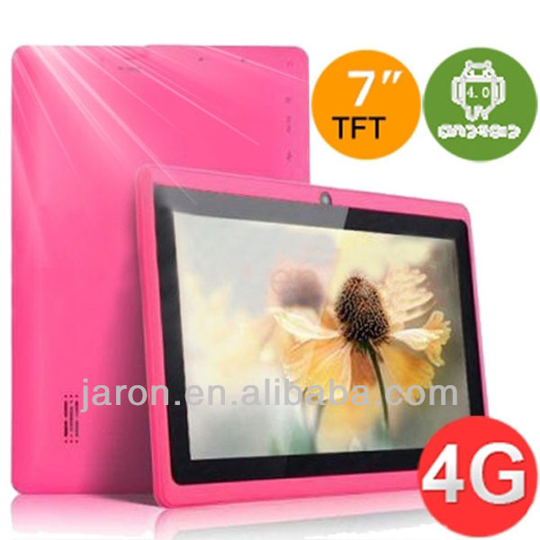 7 inch beautiful Multi-color super slim wifi android 4.0 tablet pc with 1800/3000mAH battery