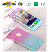 Gradient 360 Degree Full Body Coverage Protective Case for iPhone 6 6S with Tempered Glass Screen Protector shockproof