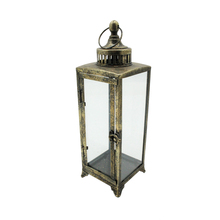 Glass Storm Hanging Decorative Metal Lantern