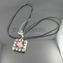 Cute Promotion Leather Metal Key Chain Tag