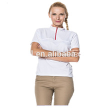 Fashion Polo Shirt for Women Zipper Collar Polo Shirts Design Wholesale Dry Fit Polos Custom Logo