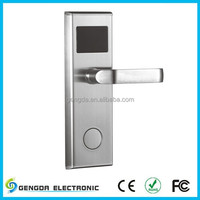 Stainless steel and pvd gold hotel door lock system solutions with elegant styles