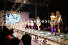 glass stage for International Fashion Fair