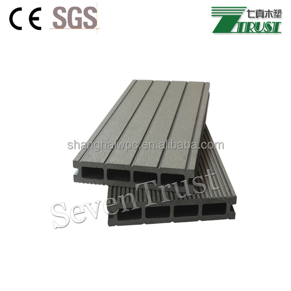 WPC Wood Plastic Composite Terrace Floor Price/ Outdoor Decking / Solid WPC Decking Board