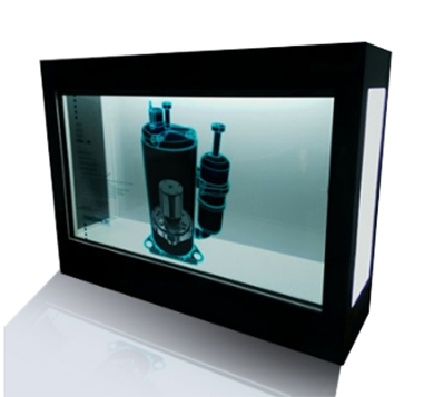 180l to 390l high efficient transparent showcase with led lights