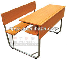 best quality of school double desk and chairs,factory made in Guangzhou,china,the mid east country first choice