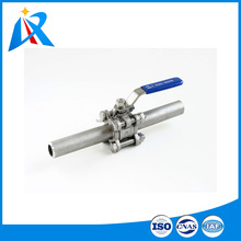 High quality &best price welding connection stainless steel butt welding and socket welding ball valve