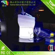 CE&ROHS approved plastic Waterproof led ice bucket/Bar beer barrel