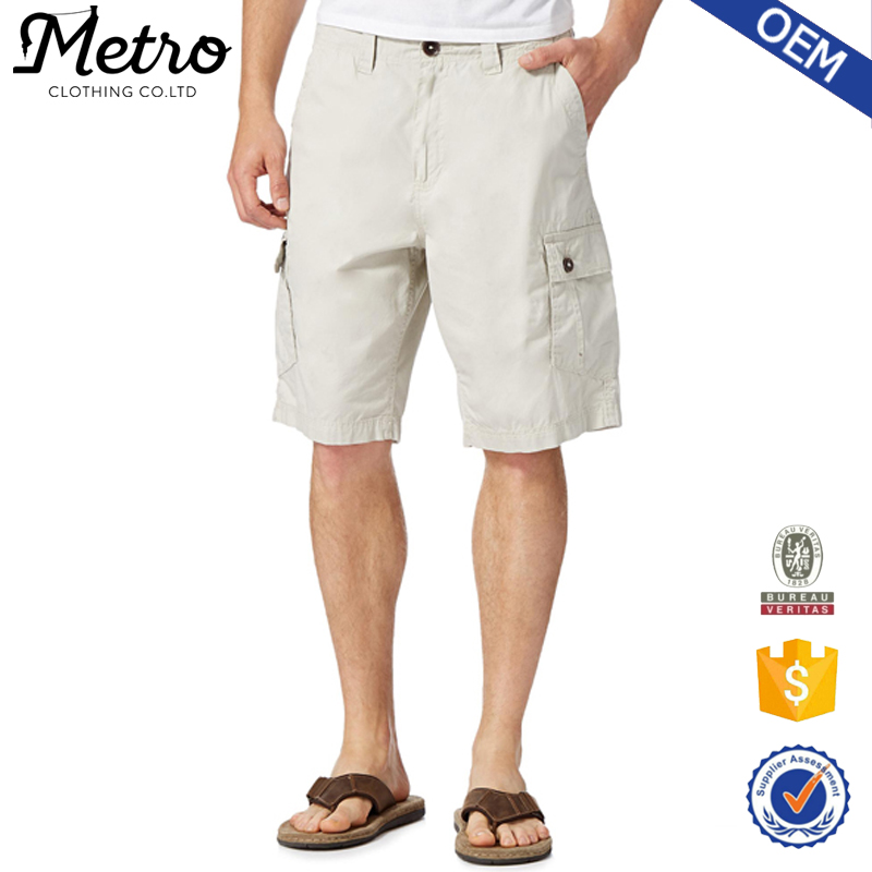 2015 Hot sale Mens Casual Poplin Cargo Shorts Multiple pockets