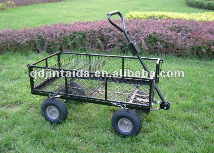 Cheap solid mesh frame Tool cars for gardener ,tool cart TC4211