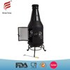 High quality creative art bottle fire pits& long-neck style chimney