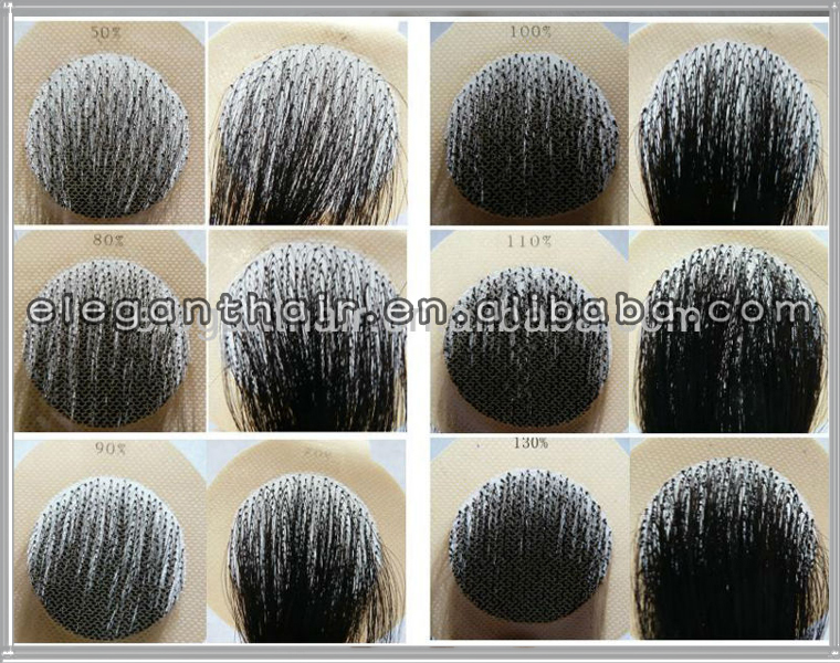 Unprocessed Indian Remy Hair 1 Density Grey Hair Afro