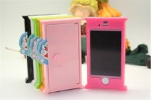 6 Color Doraemen Door Free Gate Hard Stand + Cover Case for iphone 4 4G 4S