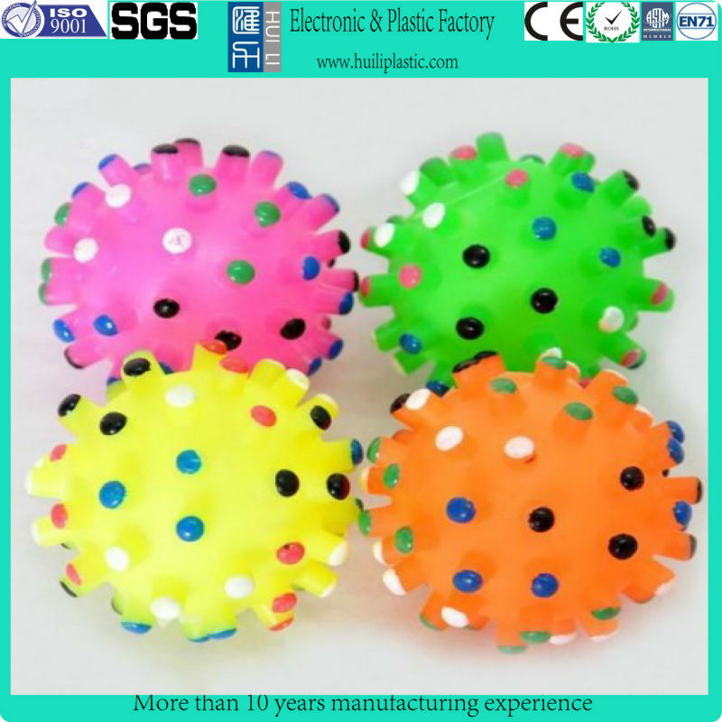soft vinyl ball pet toy/plastic pet ball toys/colorful funny pet toys balls