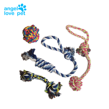 Puppy Dog Pet Rope Toys For Small to Medium Dogs (Set of 4)