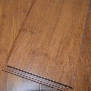 Carbonized Click lock Strand Woven Bamboo Flooring for indoor