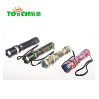 Emergency police strong power focus beam rechargeable 3 modes LED flashlight torch light