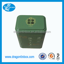 food safe rectangular chinese tea tin box with FDA certificate