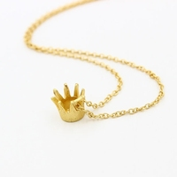 2015 Wholesale Korean Style Gold Crown Chain Link Necklace Tiaras Necklace