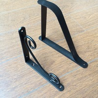 Decorative Iron Puching Wall Shelf Bracket