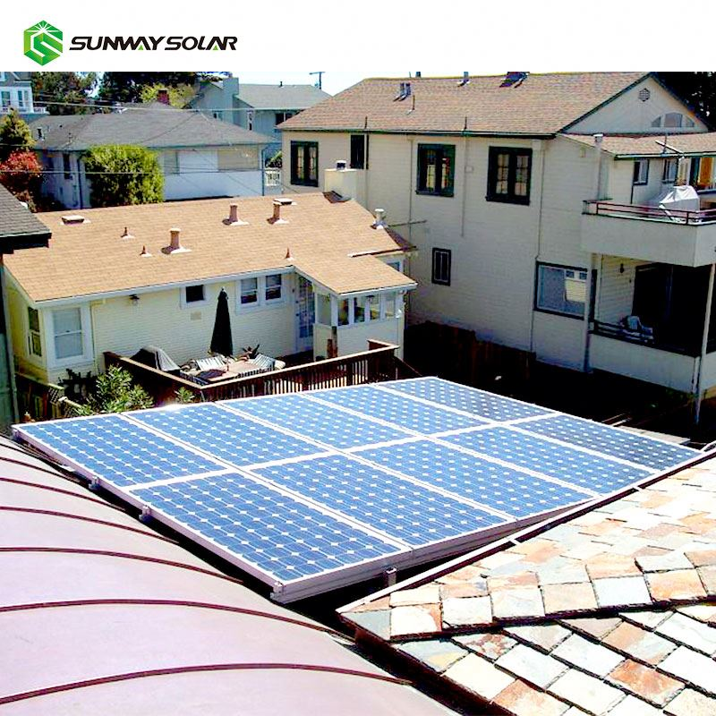 Sunway poly panels price 2kw solar panel system with battery backup wholesale china
