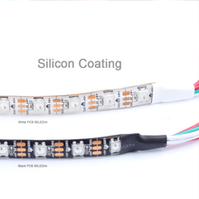 DC5V WS2812B RGB SMD 5050 30LED/m*5m 150LED White PCB Silicon Coating Waterproof LED Strip for Christmas Decoration