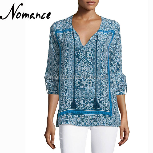 indian ethnic style tunic tops patterns