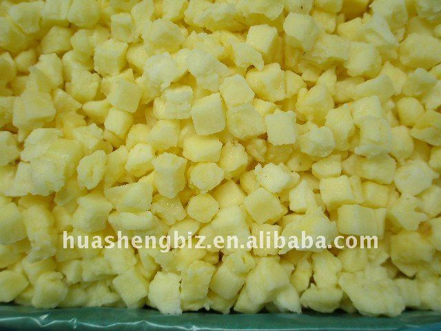 IQF Pineapples diced and frozen fruit