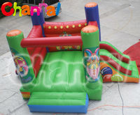 Funny games outdoor inflatable jumping bouncer combo