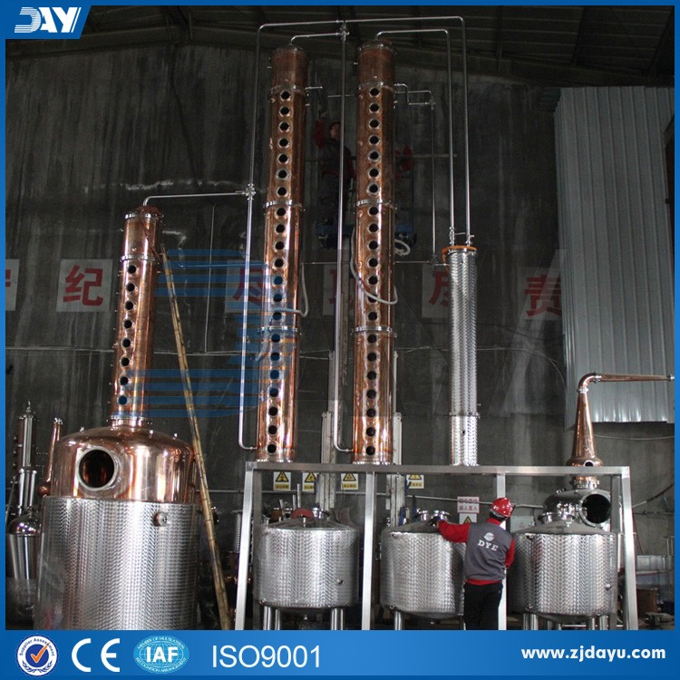 copper distillling whisky distillation column of alcohol for sale