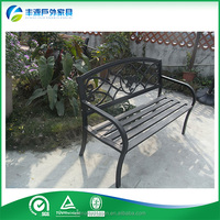 Hot-sale outdoor metal frame wood waiting bench with backrest
