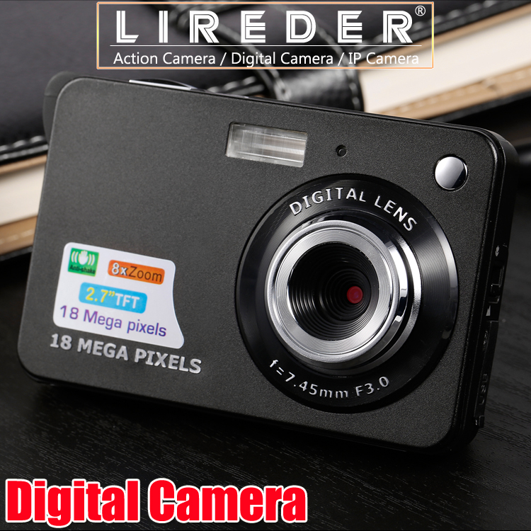 LIREDER 2.7'' TFT LCD HD 720P 18MP Digital Camera 8x Digital Zoom Camera