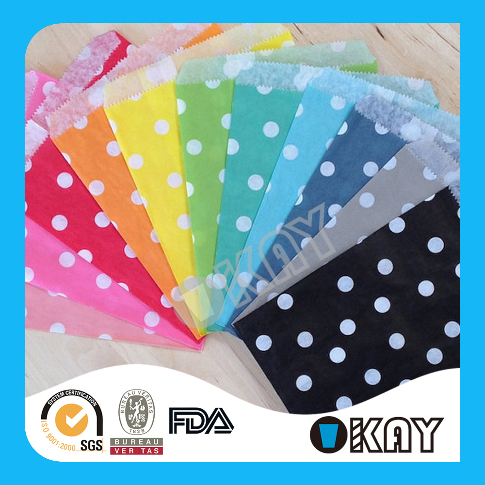 Party Fashion 2016 Polka Dot Printed Mix Colors Kids Cones Party Bags