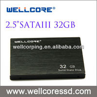 "New arrival Wellcore 2.5""SATA3 SSD 32GB solid state drives with SLC nand flash"
