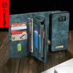 US excellent most popular retro PU leather credit card insert case wallet mobile cover for samsung galaxy s7/ s7 edge