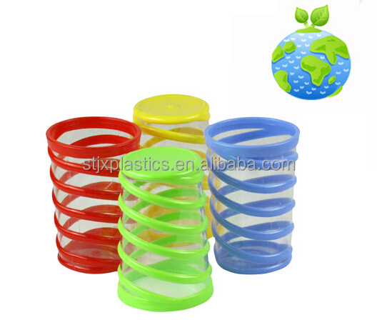 270ml fancy plastic PS cool water cups for restaurant