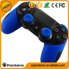 Pandaren silicone thicker half skin case cover for PS4 controller (Blue)