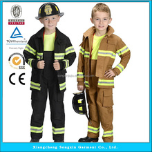 Fire Fighter Suit Fireman Costume Cosplay Costumes For Kids Halloween Party