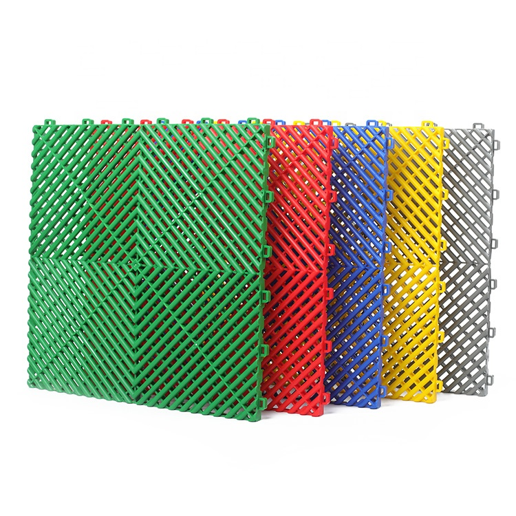 PP interlocking plastic garage floor <strong>tiles</strong> for warehouse and temporary event floor
