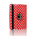 For iPad air Cute 360 Rotating Leather Case Cover Swivel Stand Polka Dot Design