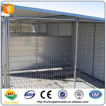 Hot sale hot dipped galvanized powder coating large outdoor easy assemble pet housedog kennels ISO certificte